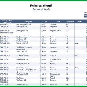 Report Mago4 Rubrica clienti