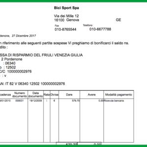 Report Mago4 Sollecito di pagamento